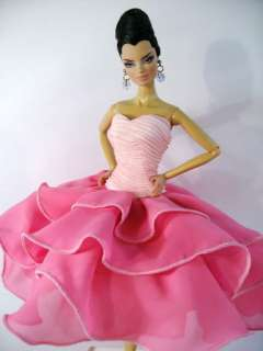 Clothes Dress Outfit Gown Silkstone Barbie Fashion Royalty Candi Pink