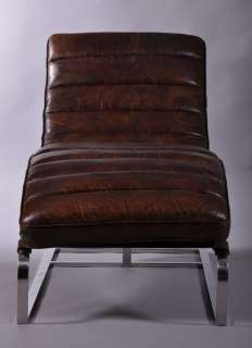 design relax liege leder sofa antik chrom chaiselounge. Black Bedroom Furniture Sets. Home Design Ideas