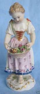 Meissen 19th Century Hand Painted Porcelain Figurine