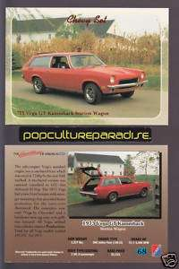 1973 CHEVROLET VEGA GT KAMMBACK STATION WAGON CAR Card