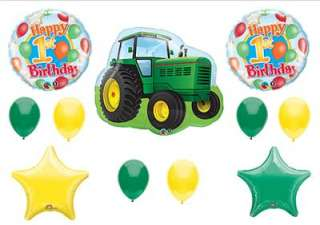JOHN DEERE LIKE 1ST FIRST Birthday Balloons Decorations Supplies Farm