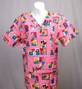 SWEET HEART Nurse Top S SMALL Nursing Scrubs   NEW