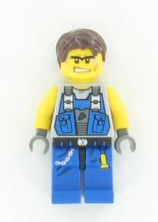 NEW Lego Power Miners Miner from Crystal King Minifig
