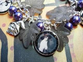 Altered Art Black & White Witches Diva Charm Bracelet