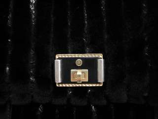 AUTH MARC JACOBS Black Mink Python Gio Tote Handbag