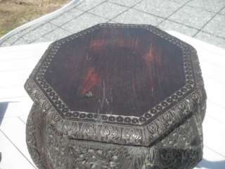 Antique Anglo Indian Highly Carved Wood Export Table