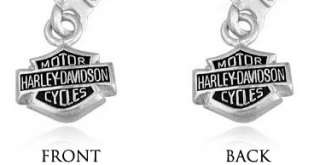 Harley Davidson Bar & Shield dangle sterling earrings MOD HDE0088 NR