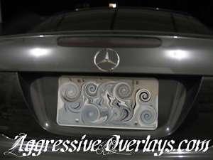 Mercedes Benz SL500 SL55 Tinted 3rd Brake Light Overlay