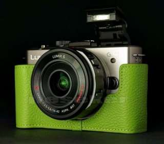real COW leather half case bag cover for Panasonic lumix GX1 10 color