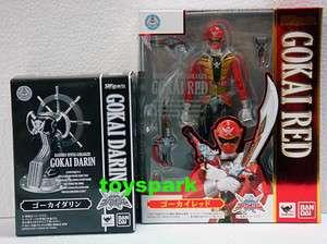 BANDAI S.H. Figuarts Kaizoku Sentai Gokaiger GOKAI RED w GOKAI DARIN