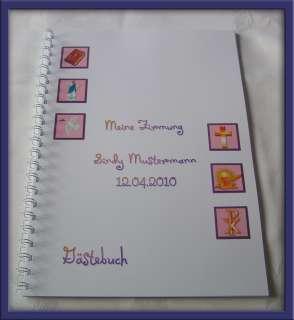 Gästebuch Konfirmation Kommunion Firmung #Symbole #lila