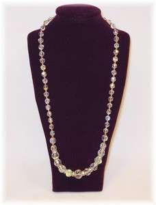 HAND MADE 18 NECKLACE SWAROVSKI CRYSTALS GOLD FILLED