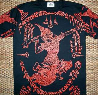 Thai RAMASOON THUNDER GOD Tattoo T Shirt M L XL NWOT