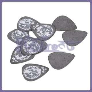 10 Black White Skull Guitar Bass Picks Plectrums Medium 0.66mm High