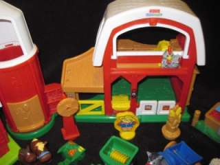 FISHER PRICE LITTLE PEOPLE FARM EXRTA BUILDINGS LOADED HUGE XMAS TOY