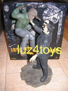 RARE Sideshow Frankenstein Meets the Wolfman Polystone Diorama limited