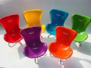 6PCS Miniature Modern Furniture Egg Swan Designer Chair