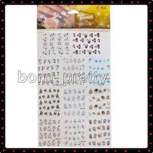 11pcs Cute Cartoon Stickers Nail Art Decals Manicure #2