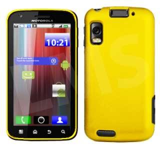 Magic Store   Yellow Hybrid Hard Case Cover For Motorola Atrix MB860
