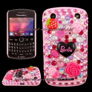 PINK FLORAL 3D CRYSTAL DIAMOND CASE DIAMANTE COVER FOR BLACKBERRY 9360