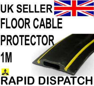 Cable Floor Cover Protector Hazard Black & Yellow 1m
