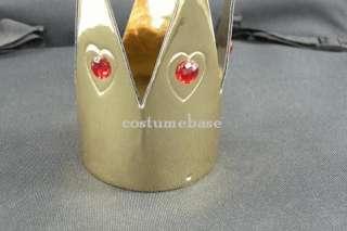 exact Red Queen of Heart Gold Crown Alice in Wonderland