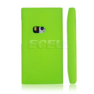 GREEN TEXTURED MESH HARD PLASTIC SNAP ON BACK CASE COVER FOR NOKIA N9