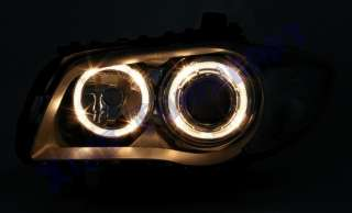 Fari ANGEL EYES NERI BMW E81 E87 SERIE 1 BLACK DEPO FK