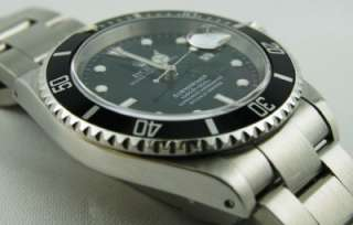 Rolex Submariner Automatic Black Dial Mens Stainless Steel 16610