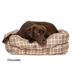 Defender Classic Plaid Square Dog Bed 20In x 24In Pet