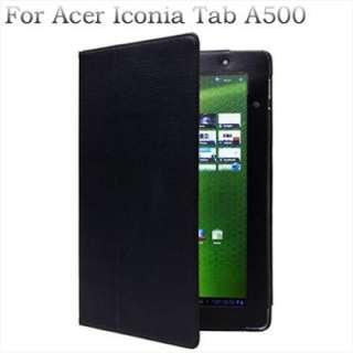 Negro Funda de Cuero Para Acer Iconia Tab A500 |