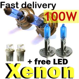 XENON 100W BULBS beam H7 H1 W5W LED VOLKSWAGEN GOLF MK4