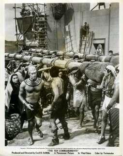 TEN COMMANDMENTS 1956 Charlton Heston MOSES Debra Paget 10x8 STILL