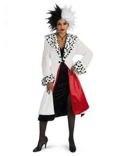 Costume Crudelia Abito Festa Carnevale Halloween Carica 101 Dalmata