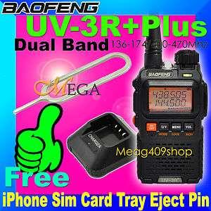 UV 3R PLUS BAOFENG DUAL BAND Radio + iPhone Sim Card Tray Eject Pin