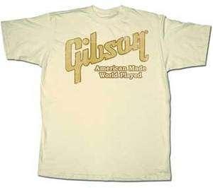 GIBSON Guitars World Played M L XL XXL t tee Shirt NEW guitar brand