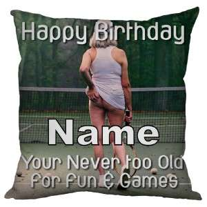 PERSONALISED GIFT CHEEKY HAPPY BIRTHDAY PRESENT CUSHION