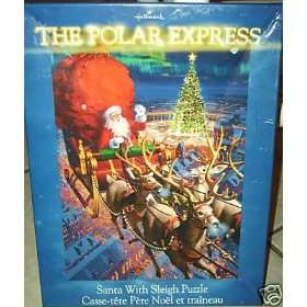 Hallmark The Polar Express   Santa With Sleigh Puzzle