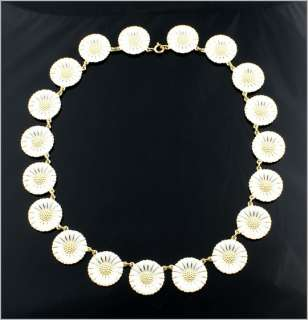 Georg Jensen Gilded Silver Necklace DAISY   18 mm