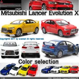 Mitsubishi Lancer Evolution X 136 Yellow Diecast Mini Car Toy