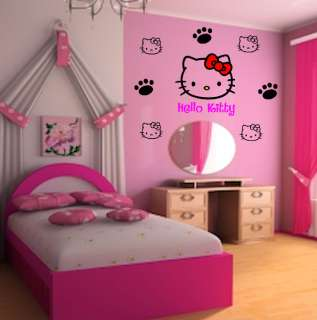 Hello Kitty Wall Art Decoration Stickers   26pcs   Set1