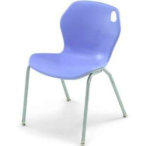 18H Intuit Stacking Chair with Powder Coat Frame   Blueberry Chair/Pl