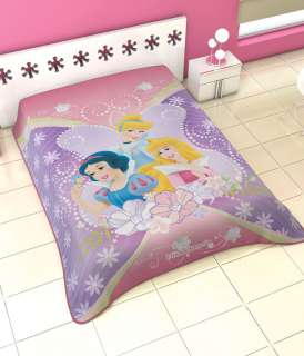 Disney Princess Belle Aurora Snow White Twin Korean Mink Blanket Plush