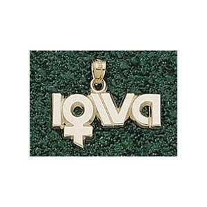 Anderson Jewelry Iowa Hawkeyes Ladys Logo Gold Charm