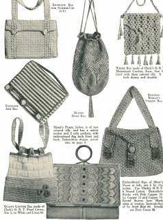 KNITTED BEADED PURSE PATTERNS