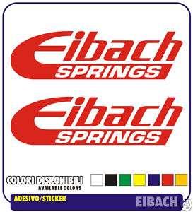 Adesivi EIBACH Auto Moto Tuning Minimoto Stickers New