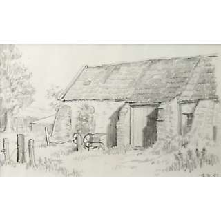 Holloway Bristol Savages Farmyard Barn Sketch Drawing