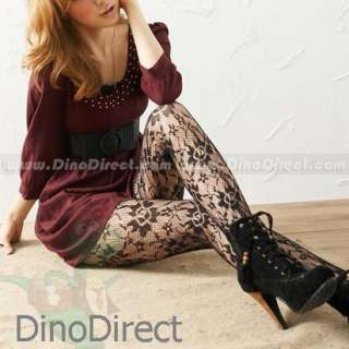 Wholesale Sexy Women Rose Pattern Lace Tights Pantyhose   DinoDirect