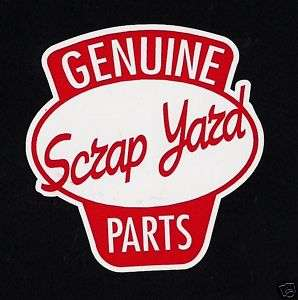 SCRAPYARD STICKER RAT HOT ROD 32 FORD ANGLIA MODEL B