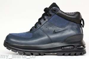 Nike Air Max Goaterra Navy Royal Blue Suede Mens Boots